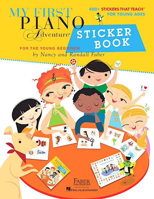 My First Piano Adventure Sticker Book HL00226546