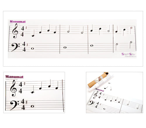 Manumat Music Theory Notation Grand Staff Giant Floor Mat Notes Symbols