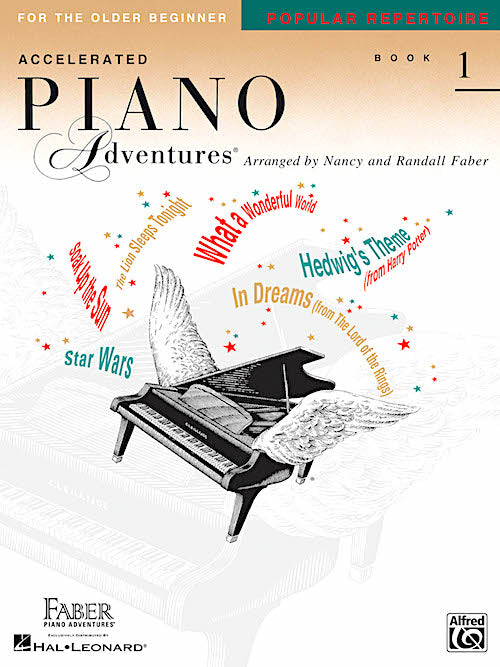 Piano Adventures for the Older Beginner Popular Repertoire Book 1