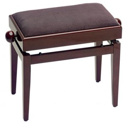 Stagg Piano bench, Opening Lid for Extra Storage - Mahogany Highgloss / Brown Velvet PB55 MHP VBR