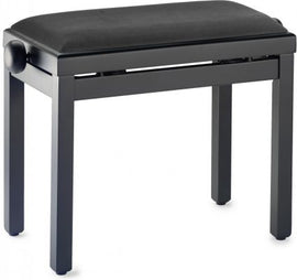 Piano bench with black velvet fireproof top, Stagg, PBF39 BKM VBK