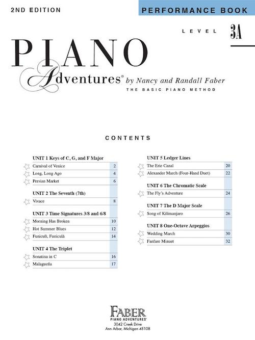 Piano Adventures Performance Book Level 3A HL00420182