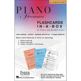 Piano Adventures Flashcards In A Box Primer - 2A Music Flash Cards 80 Cards 9781616771683