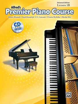 Alfred's Premier Piano Course Lesson 1B incl.CD Piano Book 23863