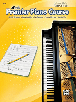 Alfred's Premier Piano Course Theory 1B Book + CD 23870