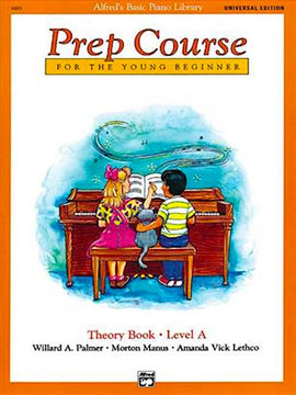 Alfred's Basic Piano Prep Course For The Young Beginner Theory Book Level A