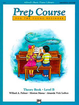 Alfred's Basic Piano Prep Course For The Young Beginner Theory Book Level B