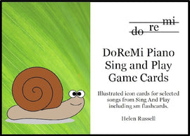Sing and Play Game Cards DoReMi Piano Helen Russell DRM04