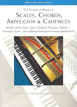 Alfred's Basic Piano Library Complete book of scales chords arpeggios & cadences 9780739003688