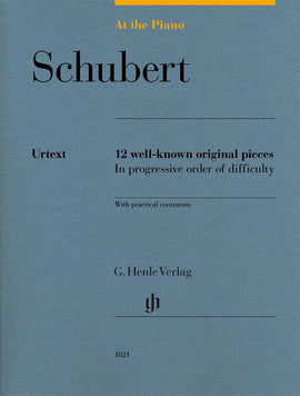 At The Piano Schubert Henle Urtext 12 well-known original pieces  HN1821