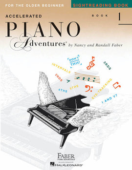 Accelerated Piano Adventures Sightreading Book 1 Older Beginner HL00123496