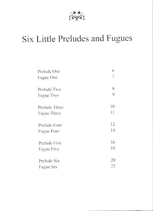 Six Little Preludes and Fugues June Armstrong Piano 9790900235039