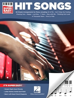 Hit Songs  Super Easy Songbook 60 Simple Arrangements For Piano 9781495073274