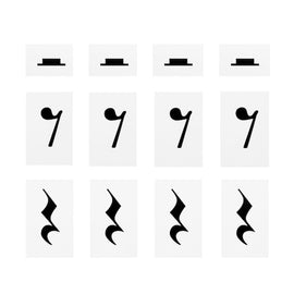 Extra Symbol Set: Pack of Music Rests symbols 12 in pack 7109617468241