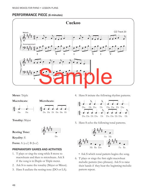 Music Moves for Piano Teacher's Lesson Plans Book 3 G-7305