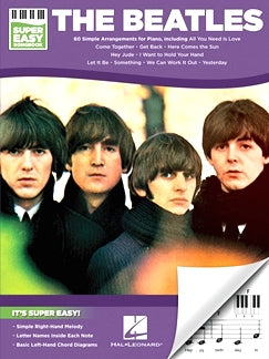 The Beatles - Super Easy Songbook, 60 Simple Arrangements For Piano, 9781495076237