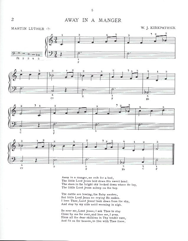 The Easiest Tune Book of Christmas Carols Book 1 Eleanor Franklin Pike