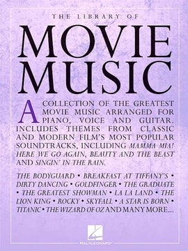 The Library Of Movie Music 54 Hit Songs from the Movies Piano Vocal Guitar