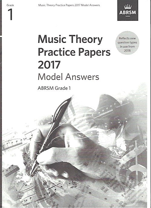 Music Theory Practice Papers 2017 Model Answers Grade 1 ABRSM 9781786010094