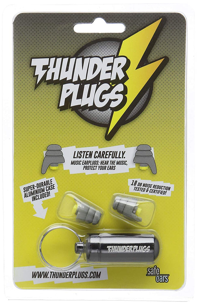 Thunderplugs One Pair of Music Ear Plugs With Carry Case