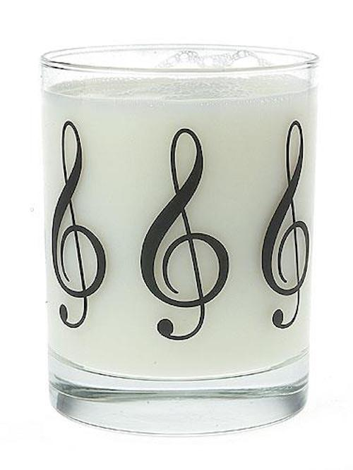 Clear Glass Tumbler Treble Clef Music Gift G02201