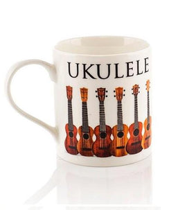 Ukulele Mug White Bone China Gift Box 5060149339220