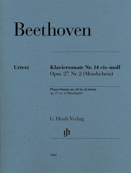 Moonlight Sonata, Beethoven, with Preface, Piano Book, Urtext, Henle 9790201810621, HN1062