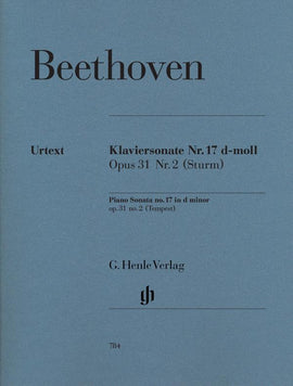 Beethoven Piano Sonata No.17 in D minor Henle Urtext HN784