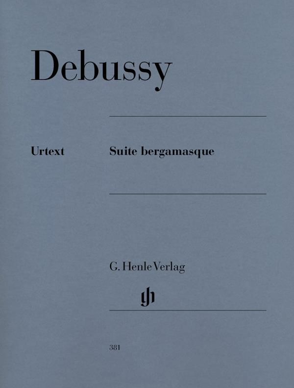 Suite Bergamasque, Debussy, Piano Book, Urtext, Henle  9790201803814  HN381
