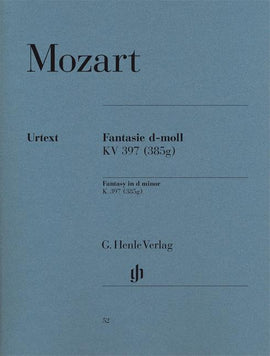 Fantasy in D Minor Mozart Henle Urtext  HN52 9790201800523