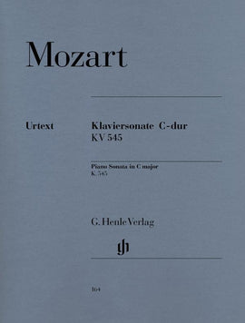 Sonata in C major K 545 Mozart Henle Urtext  9790201801643  HN164
