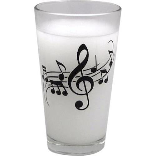 Clear Pint Mixing Glass Wavy Music Staff Gift G6247