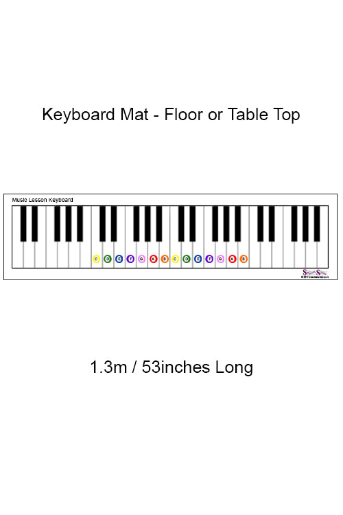 Manumat Keyboard Mat and Note Counters