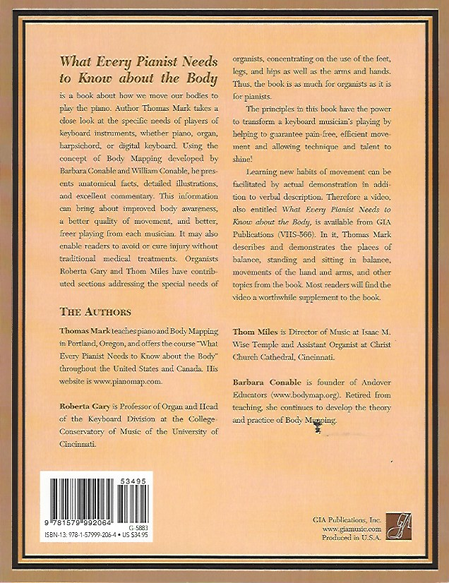 What Every Pianist Needs to Know about the Body Thomas Mark 9781579992064