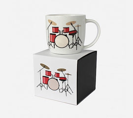 Drum Kit Mug White Bone China Gift Box 5025966725601