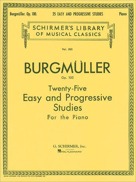 Burgmuller 25 Easy and Progressive Studies for the Piano Op.100  Schirmers Library