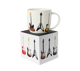 Guitars Mug White Bone China Gift Box 5025966721368
