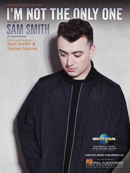 Sam Smith I'm Not The Only One Sheet Music Piano Vocal and Guitar HL00141863