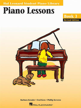 Piano Lessons, Book Three, Hal Leonard Student Piano Library, 9780793584406
