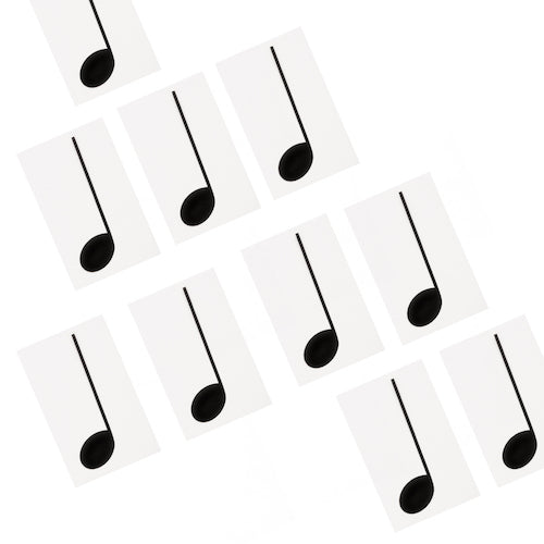 Extra Note Set: Pack of 10 Crotchets (1/4 Notes) 7109614111515