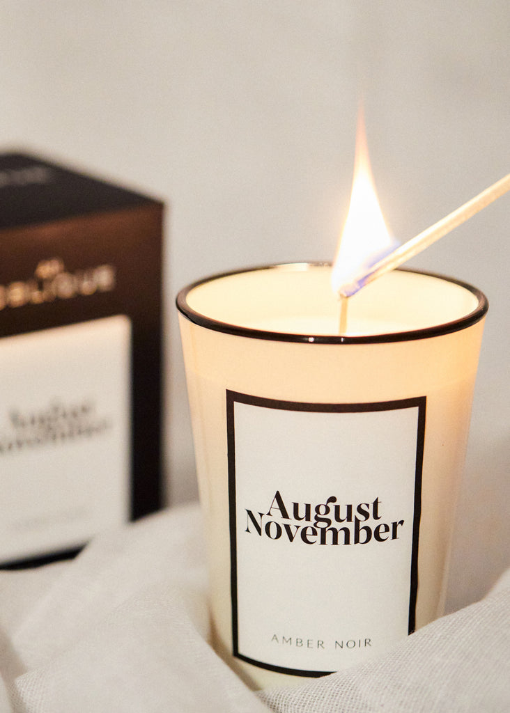 Scented Candle Amber Noir