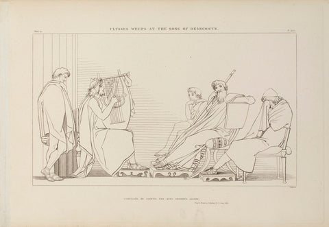 'Ulysses Weeps at the Song of Demodocus' (1805) etching by John Flaxman (RA)