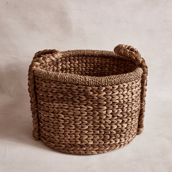 Large Oval Water Hyacinth Basket