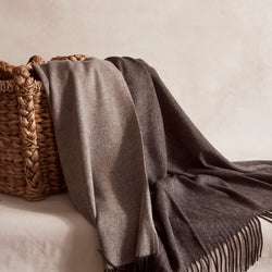 Cashmere & Wool Reversible Throw