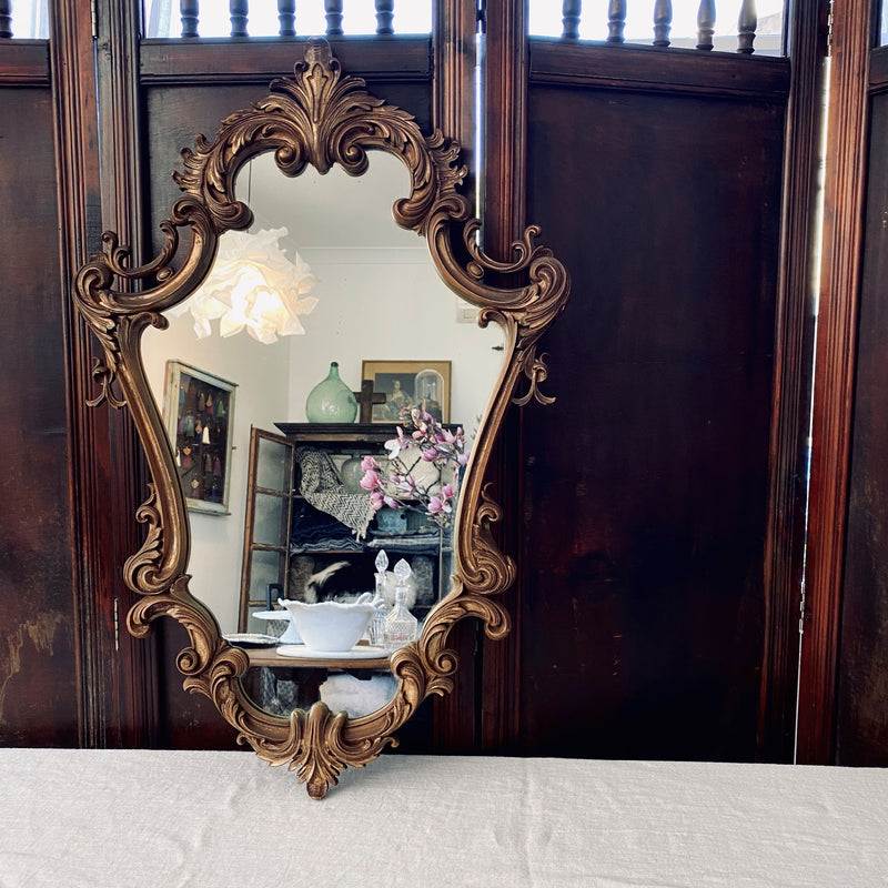 Baroque Style Bronze Coloured Mirror