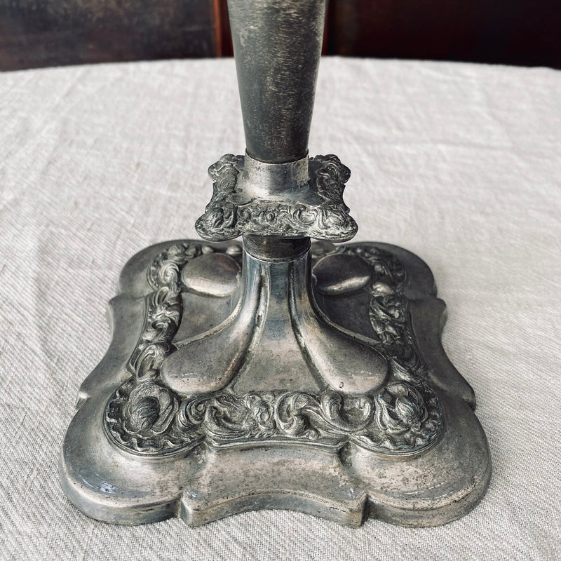 Large pewter candlestick