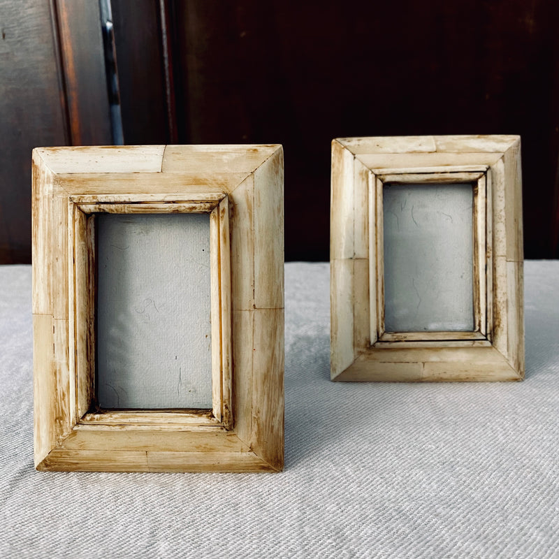 Pair of Miniature Bone Picture Frames