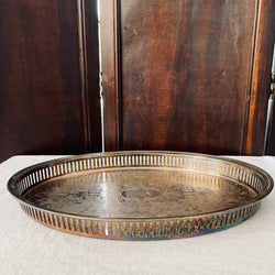 Silver Plated Pierced Gallery Tray