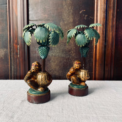 Pair of Monkey Candlesticks