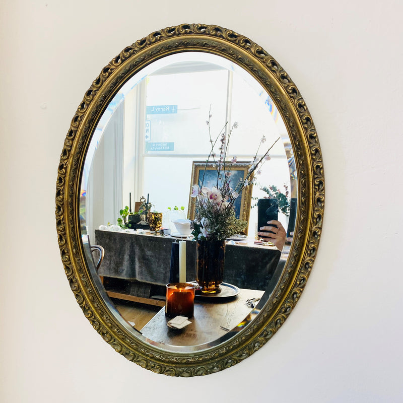 Golden Gilt Oval Mirror